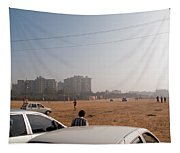 An Almost Empty Parking Lot At Surajkand Fair In India Tapestry