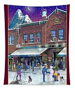 An Early Snow For Cafe Monte Alto Tapestry