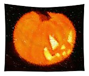 Angry Pumpkin Tapestry