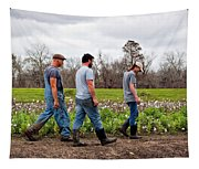 Another Cotton Pickin' Day Tapestry