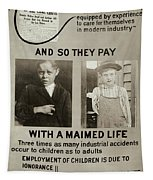 Anti-child Labor Poster Tapestry