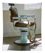 Antique Barber Chair Tapestry