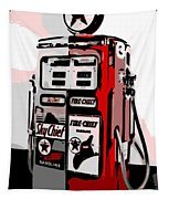 Antique Gas Pump Tapestry