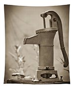Antique Hand Water Pump Tapestry