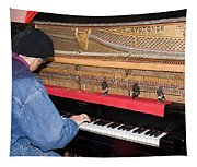 Antique Playtone Piano Tapestry