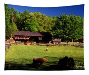 Appalachian Barn Yard Tapestry