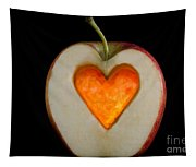 Apple With A Heart Tapestry