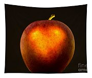 Apple With A Illuminated Heart Tapestry