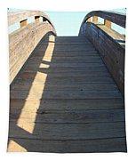 Arched Pedestrian Bridge At Martinez Regional Shoreline Park In Martinez California . 7d10525 Tapestry