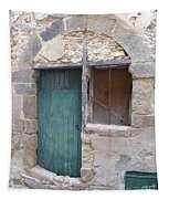 Arched Stone Work Over Door Tapestry