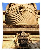 Architectural Detail . Large Urn With Lion Gargoyle  . Hearst Gym . Uc Berkeley . 7d10191 Tapestry