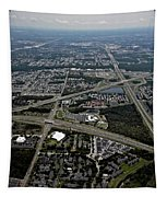 Ariel View Of Orlando Florida Tapestry