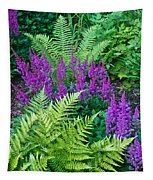Astilbe And Ferns Tapestry