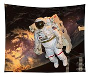 Astronaut In A Space Suit Tapestry