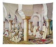 At Prayer In The Mosque Tapestry