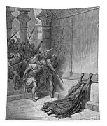 Athaliah (d. 836 B.c.). /nqueen Of Judah, C842-836 B.c. The Death Of Athaliah (ii Chronicles 22:10, 23:15). Wood Engraving, 19th Century, After Gustave Dor� Tapestry