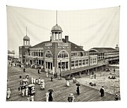 Atlantic City Steel Pier 1910 Tapestry