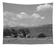 August Hay 75th  St Boulder County Colorado Black And White  Tapestry