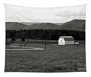 Autumn Barn In Green Bank Wv Bw Tapestry