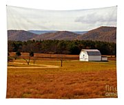 Autumn Barn In Green Bank Wv Tapestry