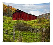 Autumn Barn Painted Tapestry