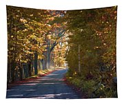 Autumn Country Road - Oil Tapestry