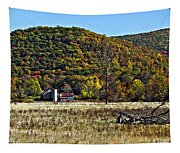 Autumn Farm Painted Tapestry