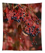 Autumn Grapes Tapestry