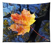 Autumn Leaf On The Water Level Tapestry
