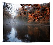 Autumn Morning By Wissahickon Creek Tapestry