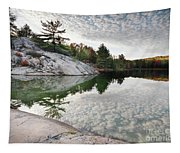 Autumn Nature Lake Rocks And Trees Tapestry