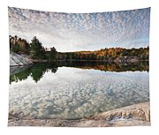 Autumn Nature Lake Rocks And Trees Panorama Tapestry