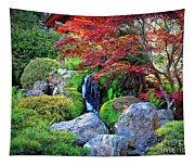 Autumn Waterfall - Digital Art Tapestry