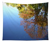 Autumn's Watery Reflection Tapestry