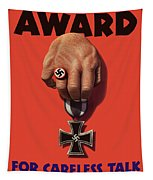 Award For Careless Talk - Ww2 Tapestry