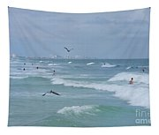 Awesome Day At The Beach Tapestry