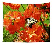 Azalea And Butterfly 1 Tapestry