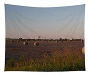 Bales In Peanut Field 1 Tapestry