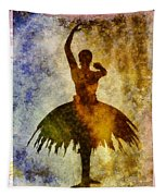 Ballerina 1 With Border Tapestry