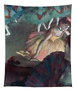 Ballerina And Lady With A Fan Tapestry