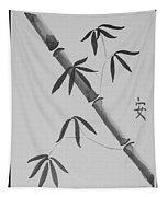 Bamboo Art In Black And White Tapestry