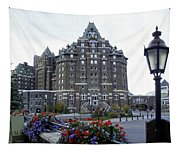 Banff Springs Hotel In The Canadian Rocky Mountains Tapestry