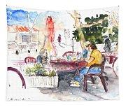 Bar Avenida En El Albir In Spain Tapestry