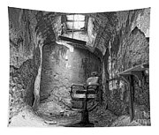 Barber - Chair - Eastern State Penitentiary - Black And White Tapestry