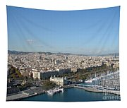 Barcelona View 2 Tapestry