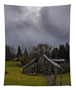 Barn And Sky Tapestry