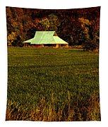 Barn In The Style Of The 60s Tapestry