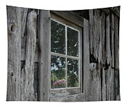 Barn Window Reflection Tapestry