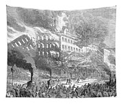 Barnums Museum Fire, 1865 Tapestry