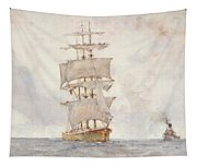Barque And Tug Tapestry